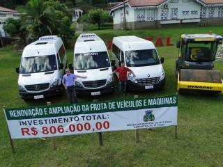 Prefeitura Municipal de Alto Feliz investe em ampliação da frota de veículos e máquinas