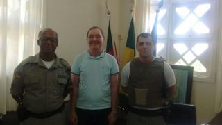 Gabinete do Prefeito recebe visita da Brigada Militar